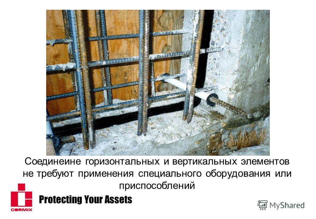 Protecting Your Assets Соединеине горизонтальных и вертикальных элементов не требуют применения специального оборудования или приспособлений