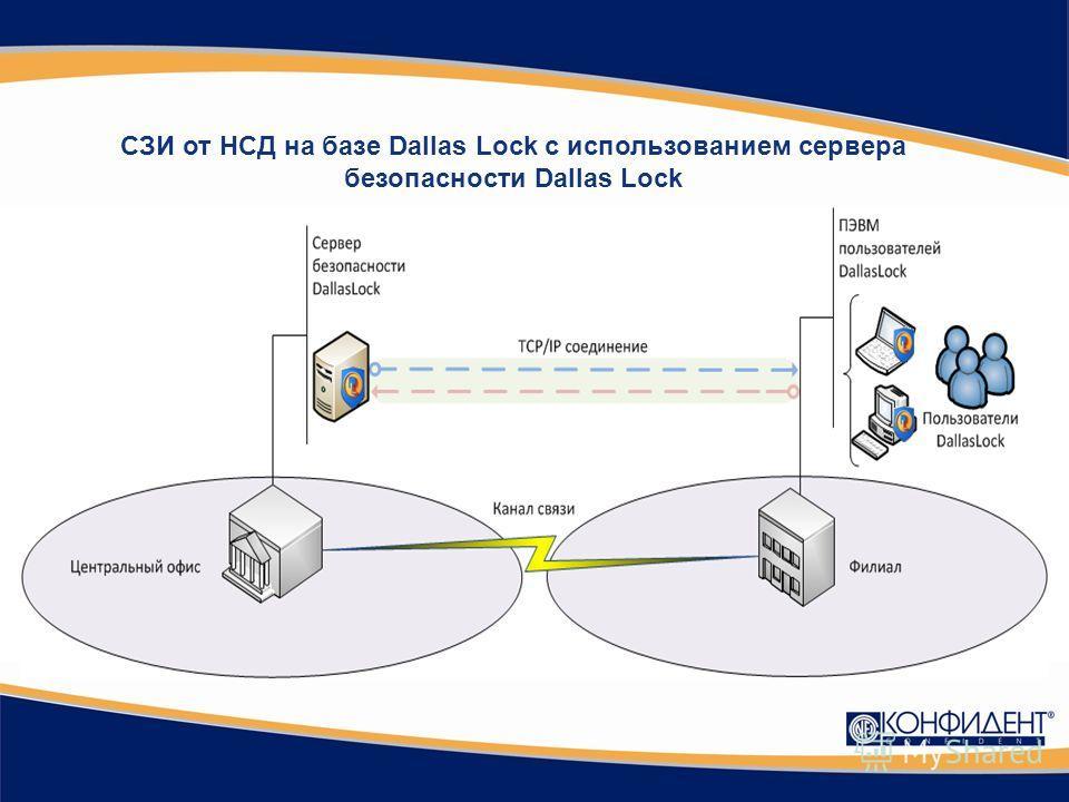 СЗИ от НСД на базе Dallas Lock с использованием сервера безопасности Dallas Lock