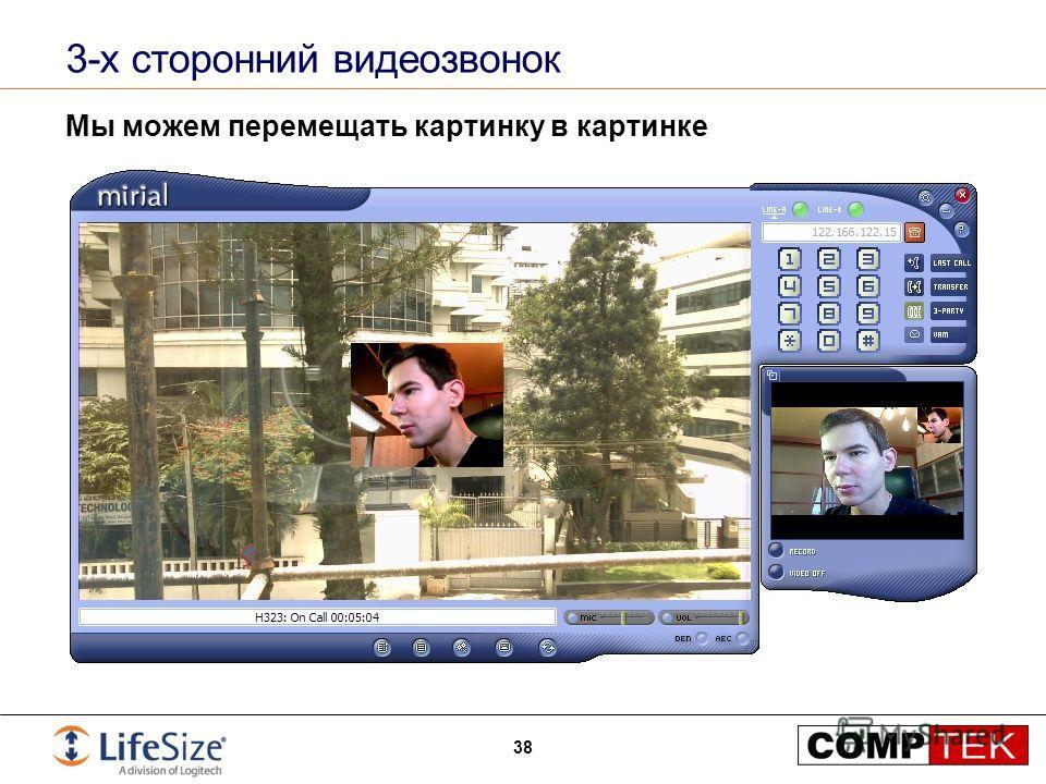 3-х сторонний видеозвонок Мы можем перемещать картинку в картинке 38
