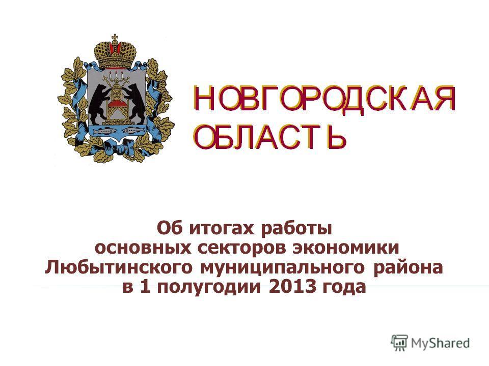 Об итогах работы основных секторов экономики Любытинского муниципального района в 1 полугодии 2013 года