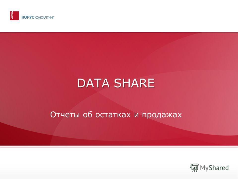DATA SHARE Отчеты об остатках и продажах