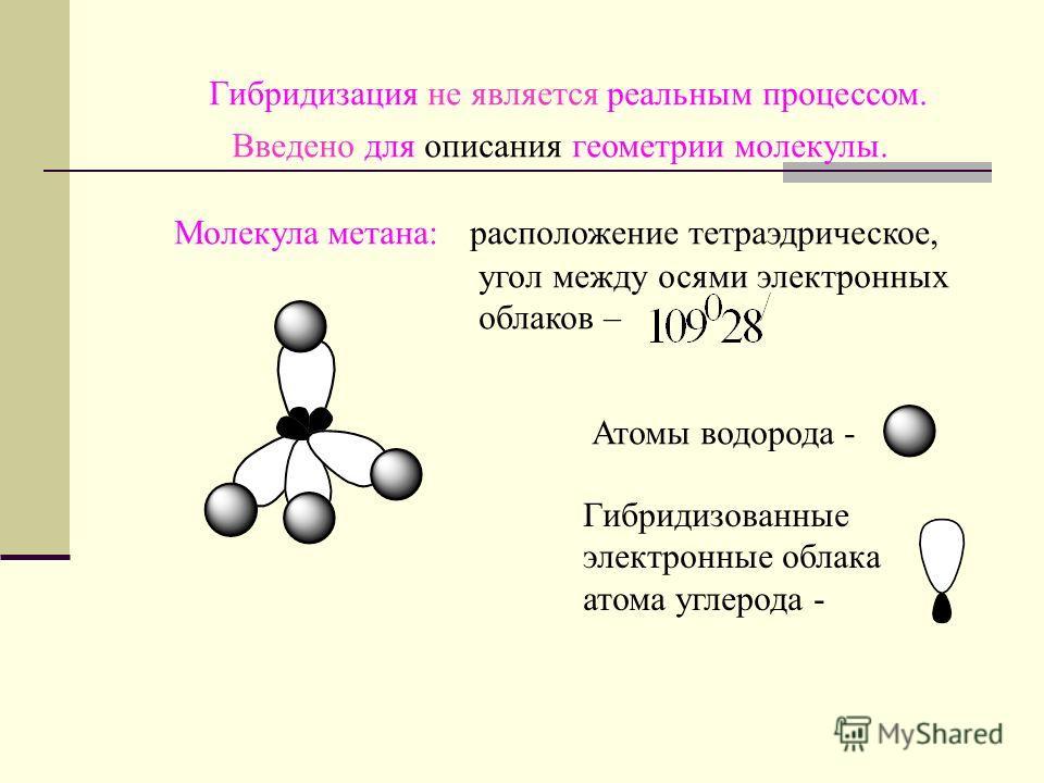 В гибридизации участвуют близкие по энергии атомные орбитали, не занятые электронами (вакантные) или орбитали с неспаренными электронами и неподелёнными электронными парами.