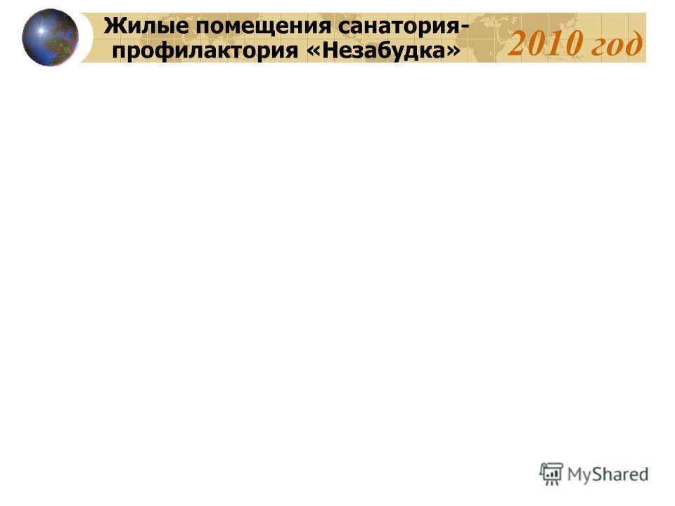 2010 год Жилые помещения санатория- профилактория «Незабудка»