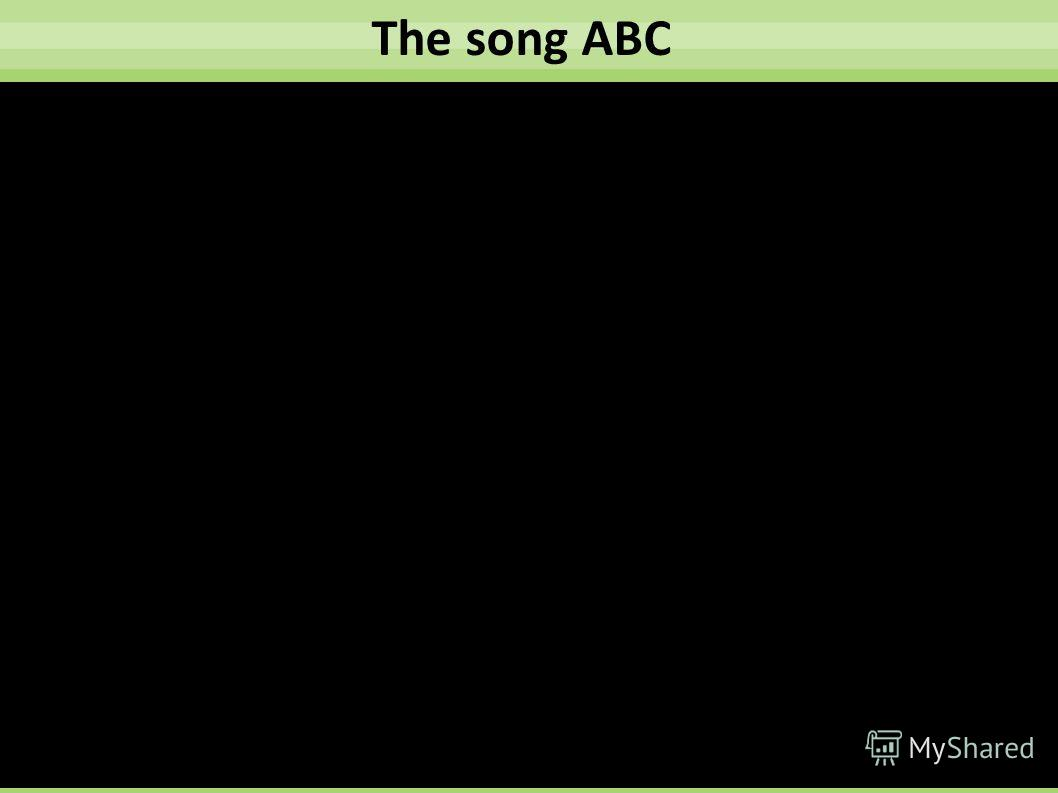 The song ABC