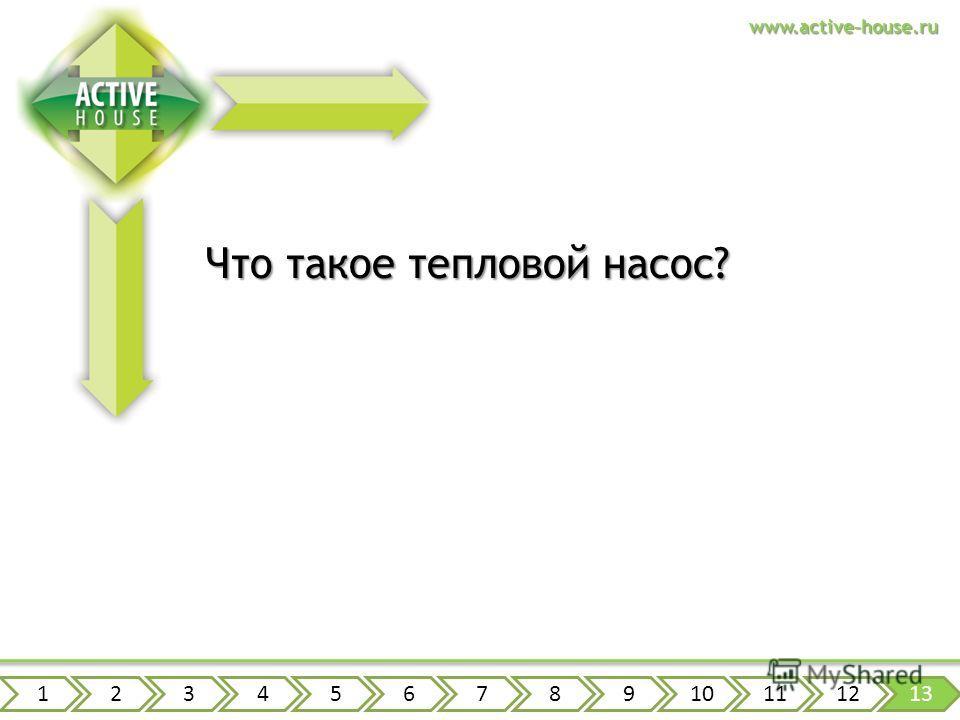 www.active-house.ru Что такое тепловой насос? 12345678910111213