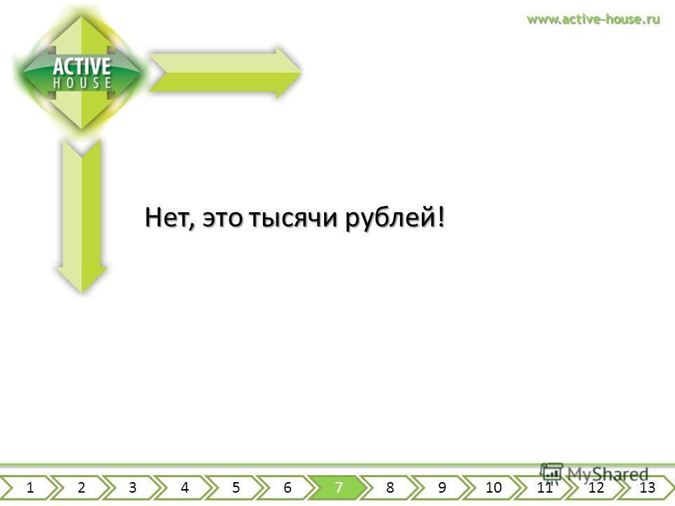 www.active-house.ru Нет, это тысячи рублей! 12345678910111213