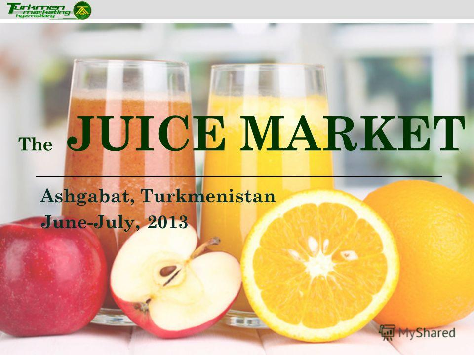 The JUICE MARKET Ashgabat, Turkmenistan June-July, 2013