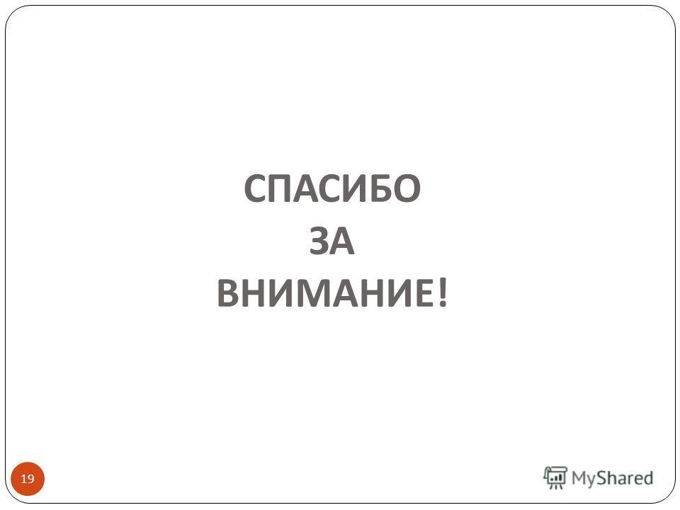 СПАСИБО ЗА ВНИМАНИЕ ! 19