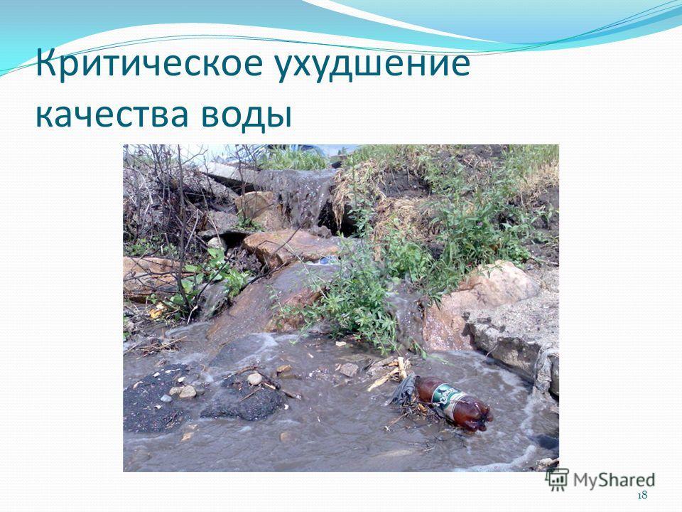 Критическое ухудшение качества воды 18