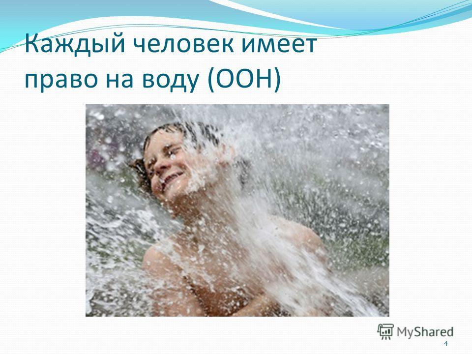 Каждый человек имеет право на воду (ООН) 4