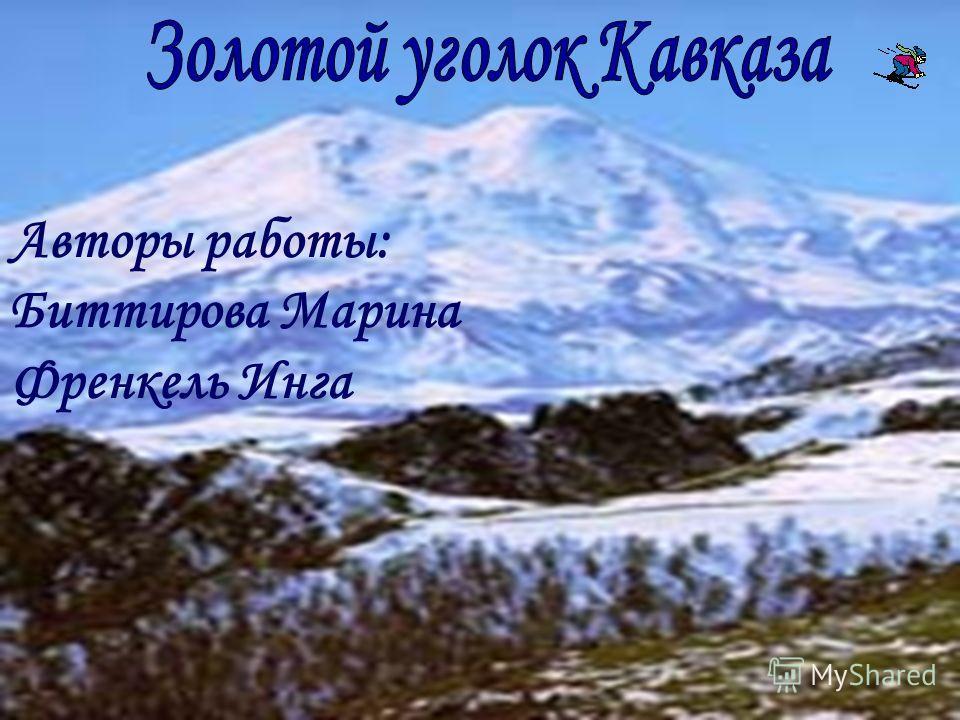 Авторы работы: Биттирова Марина Френкель Инга