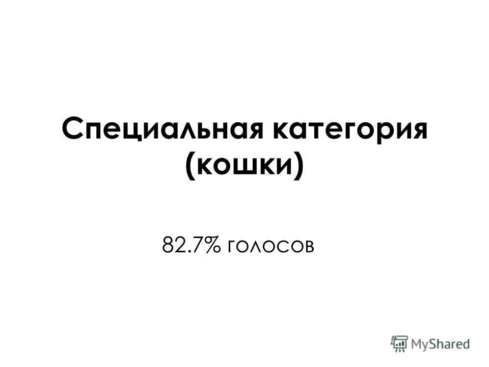 Специальная категория (кошки) 82.7% голосов