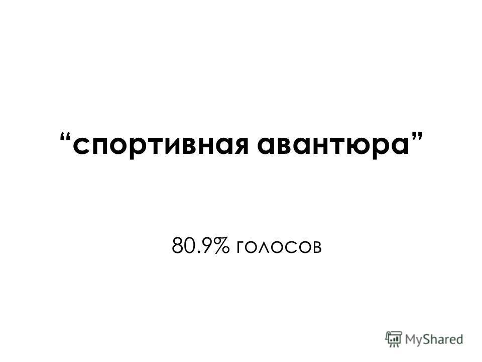 спортивная авантюра 80.9% голосов