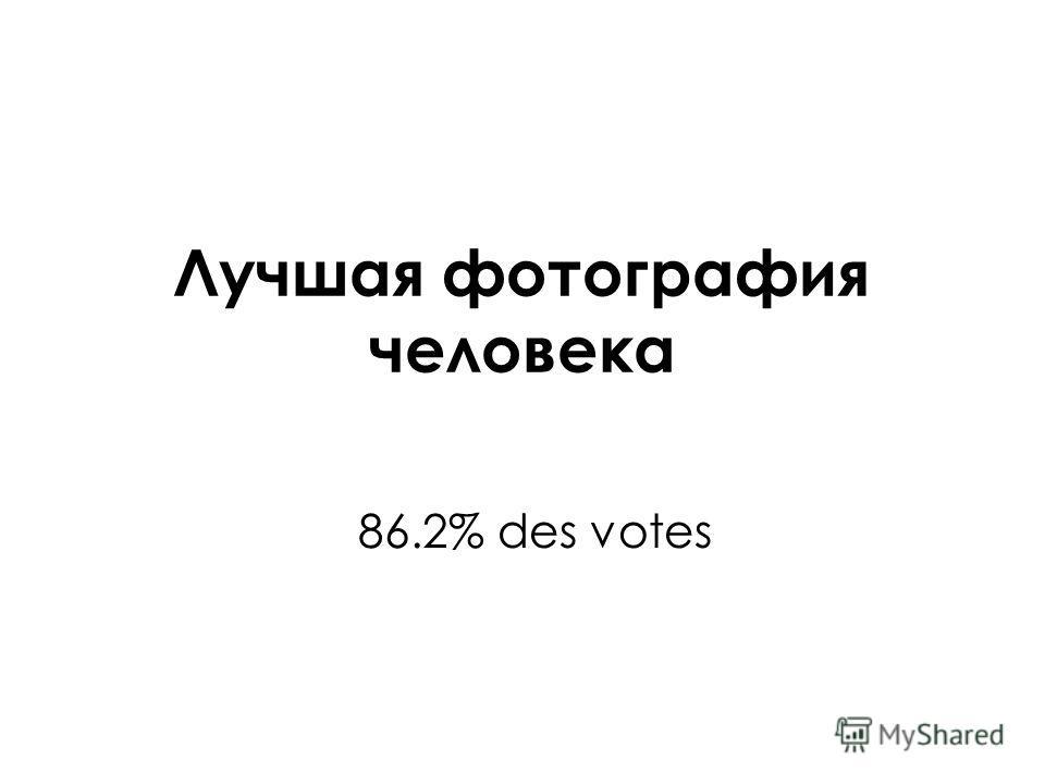 Лучшая фотография человека 86.2% des votes