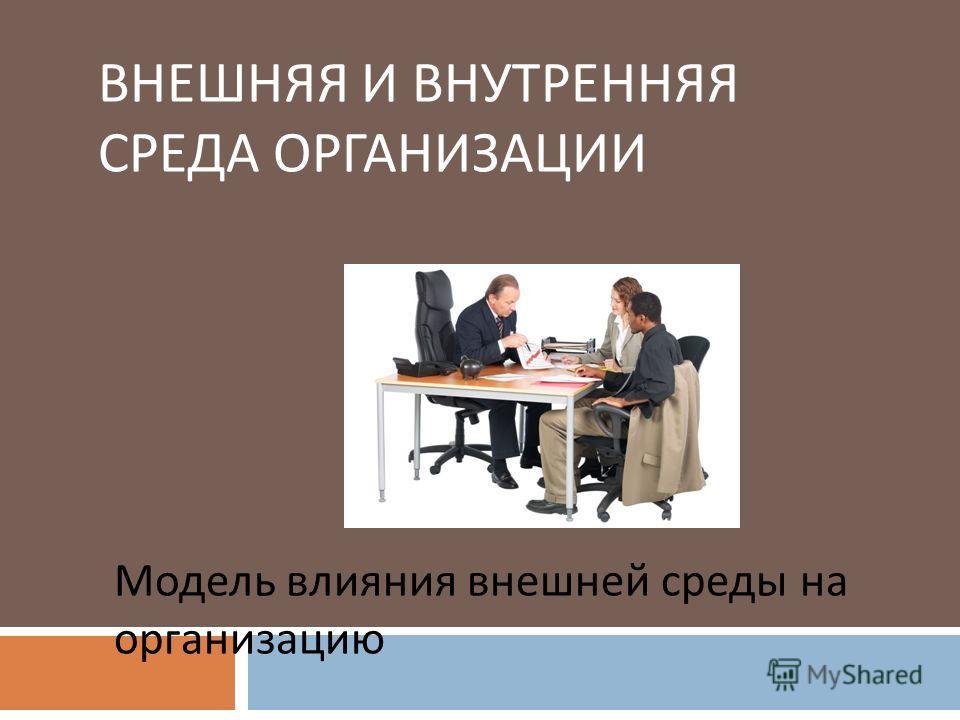ВНЕШНЯЯ И ВНУТРЕННЯЯ СРЕДА ОРГАНИЗАЦИИ Модель влияния внешней среды на организацию