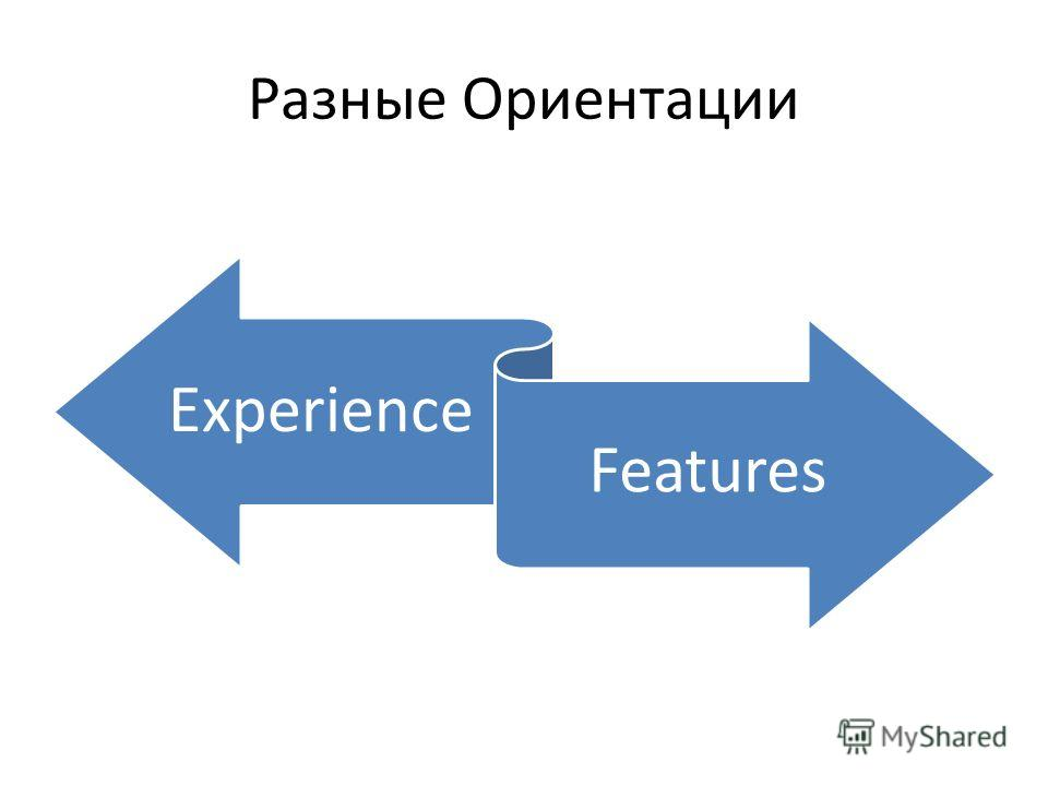 Разные Ориентации Experience Features