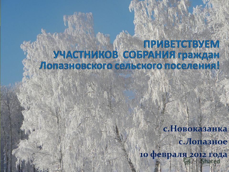 с.Новоказанка с.Лопазное 10 февраля 2012 года