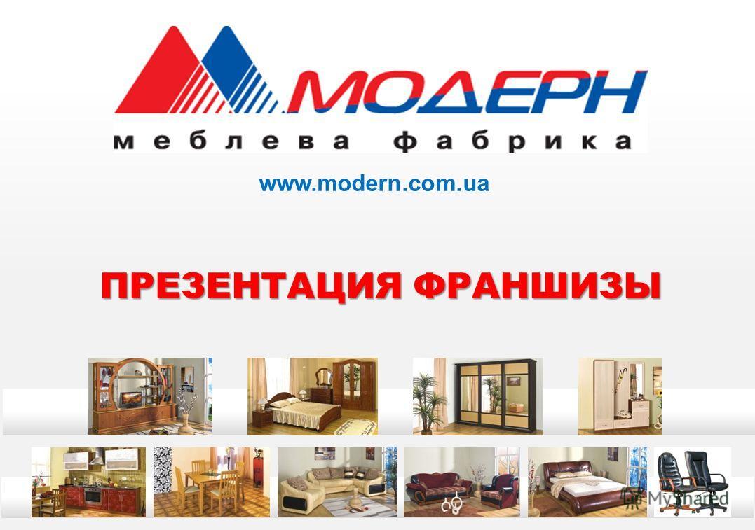 ПРЕЗЕНТАЦИЯ ФРАНШИЗЫ www.modern.com.ua