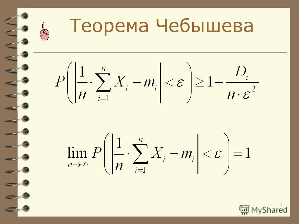 10 Теорема Чебышева