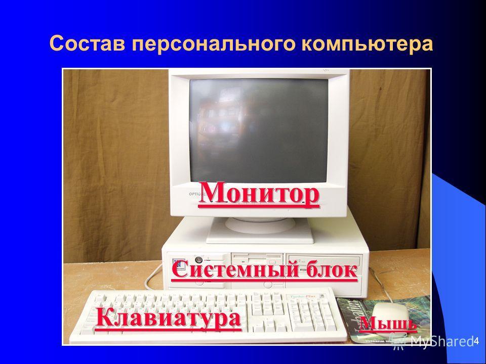 4 Состав персонального компьютера
