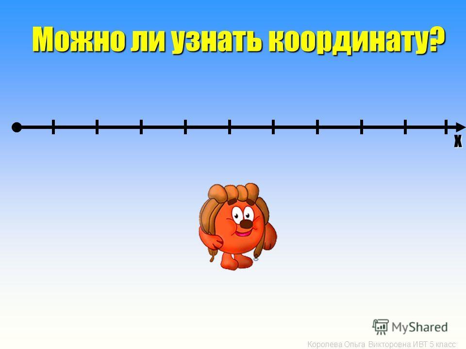 Королева Ольга Викторовна ИВТ 5 класс Можно ли узнать координату? Х