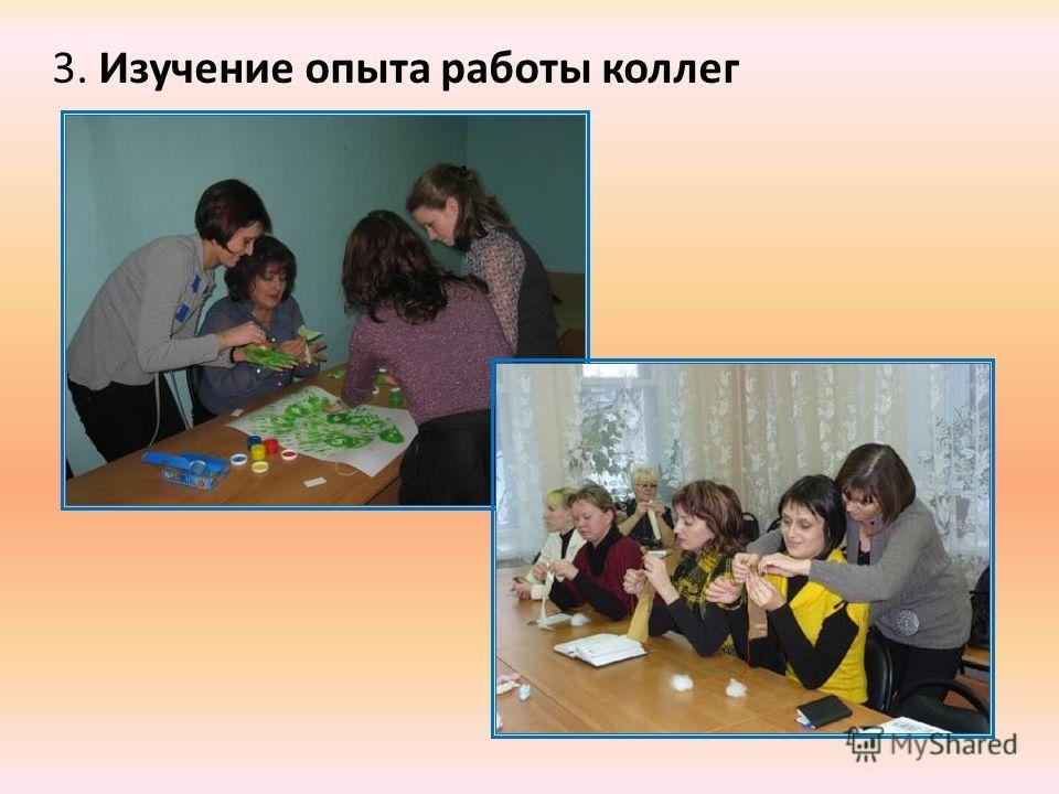 3. Изучение опыта работы коллег
