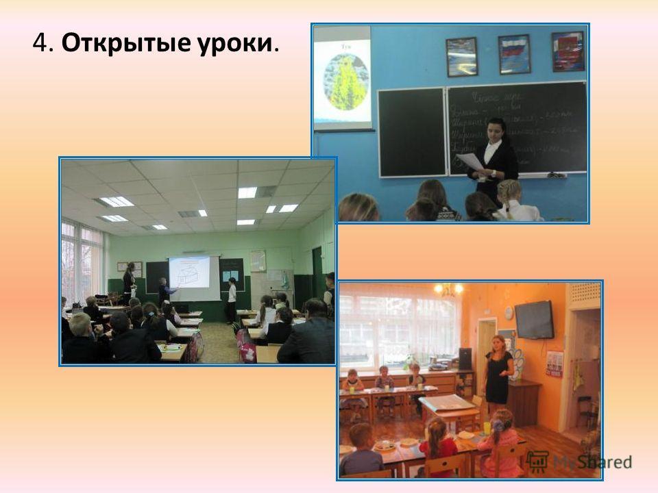 4. Открытые уроки.