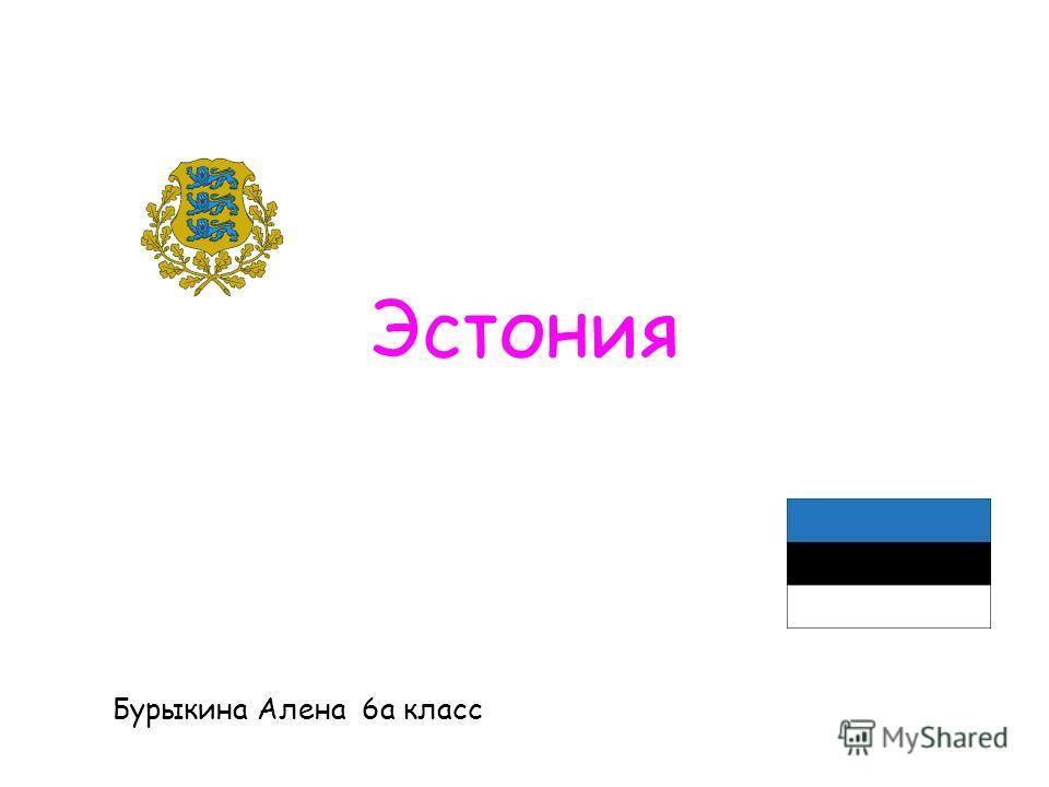 Эстония Бурыкина Алена 6а класс