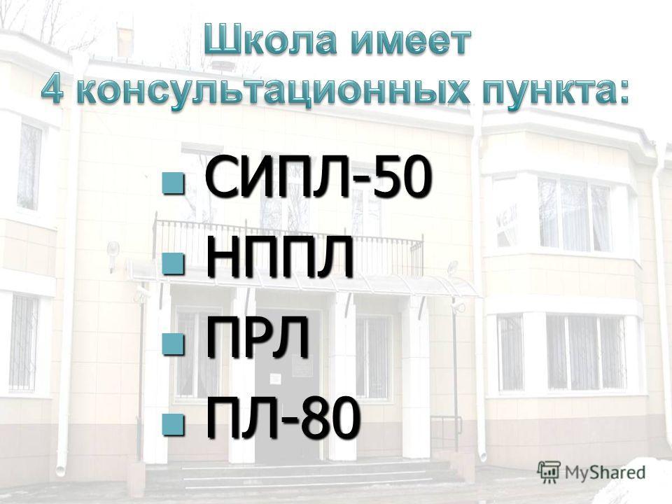 СИПЛ-50 СИПЛ-50 НППЛ НППЛ ПРЛ ПРЛ ПЛ-80 ПЛ-80