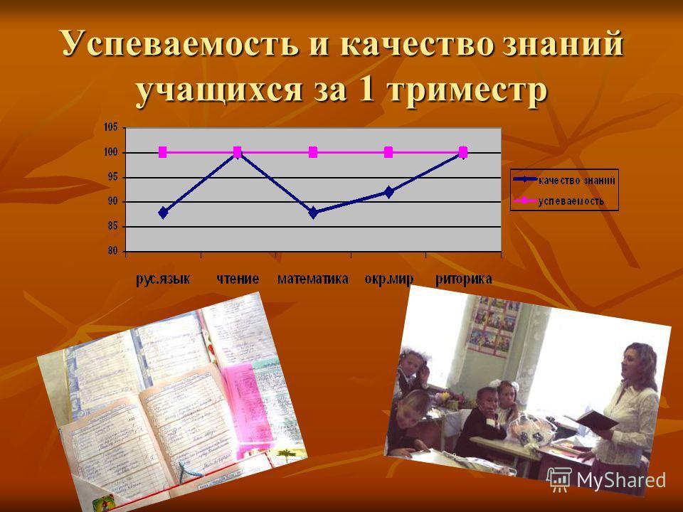 Успеваемость и качество знаний учащихся за 1 триместр