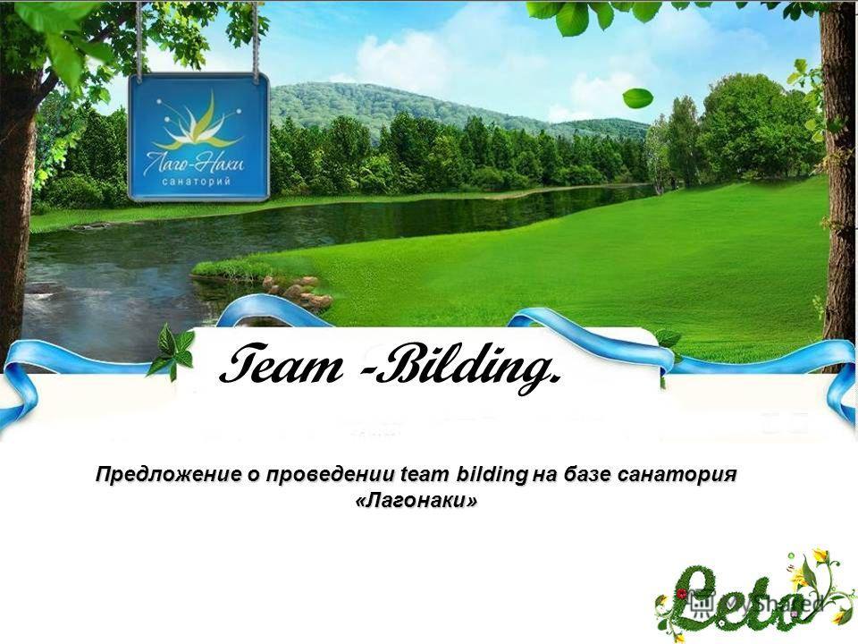Team -Bilding. Предложение о проведении team bilding на базе санатория «Лагонаки»