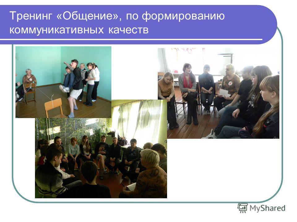 Тренинг «Общение», по формированию коммуникативных качеств