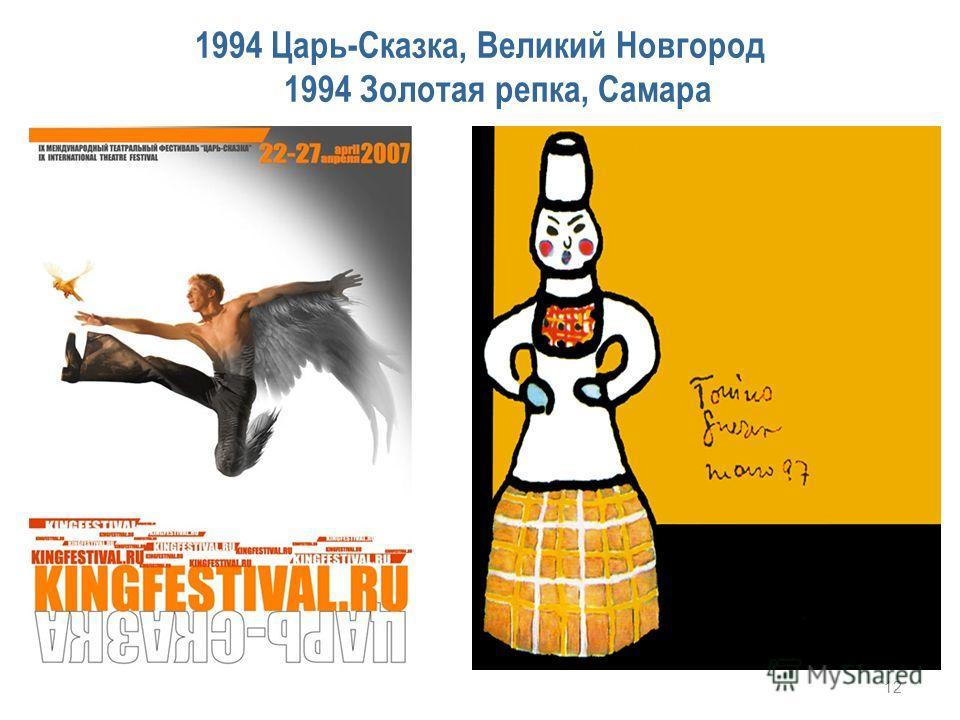 1994 Царь-Сказка, Великий Новгород 1994 Золотая репка, Самара 12