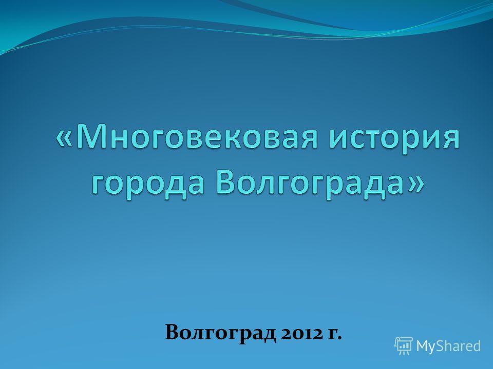 Волгоград 2012 г.