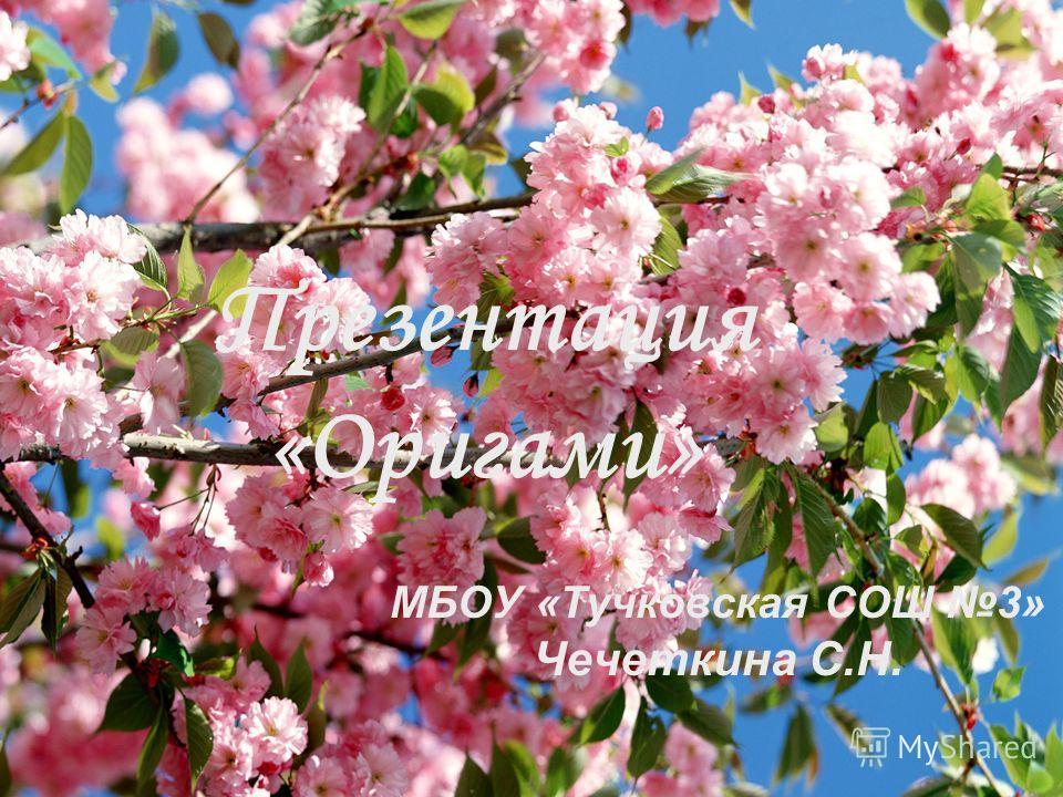 Презентация «Оригами» МБОУ «Тучковская СОШ 3» Чечеткина С.Н.