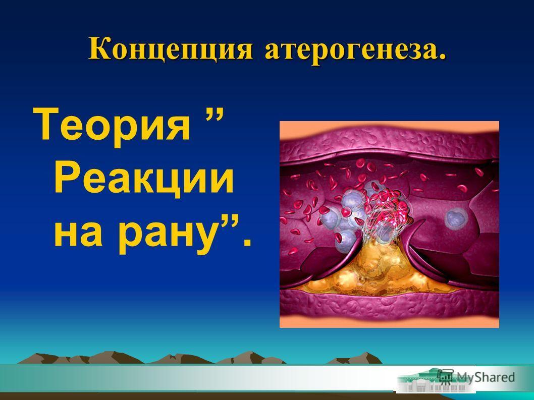 Концепция атерогенеза. Теория Реакции на рану.