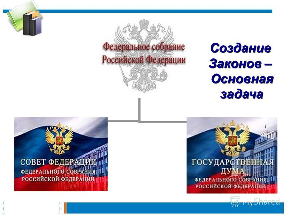 Парламент Верхняя палата Нижняя палатаСоздание Законов – Основнаязадача