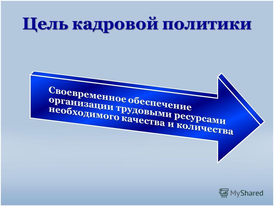 Цель кадровой политики