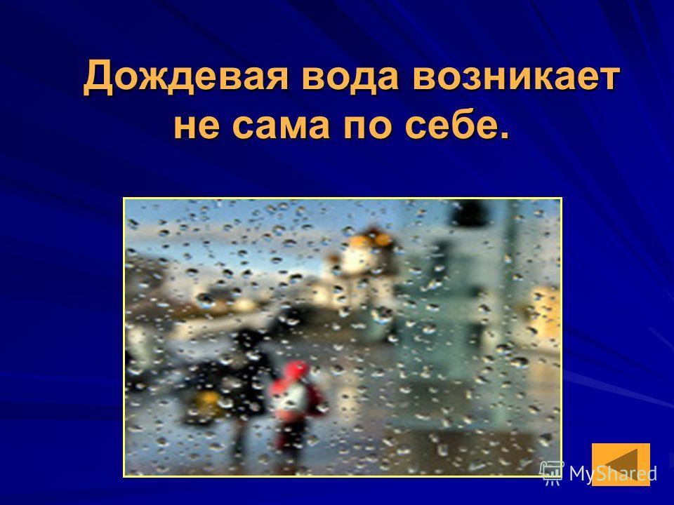 Дождевая вода возникает не сама по себе.
