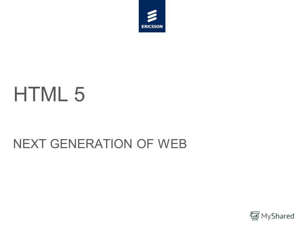 Slide title minimum 48 pt Slide subtitle minimum 30 pt HTML 5 NEXT GENERATION OF WEB