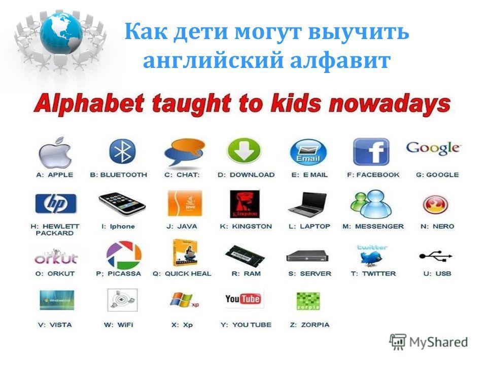 Как дети могут выучить английский алфавит