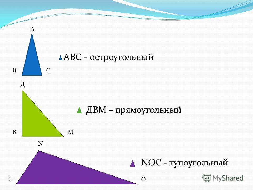 Треугольник в зависимости от величины угла тупоугольный остроугольный прямоугольный