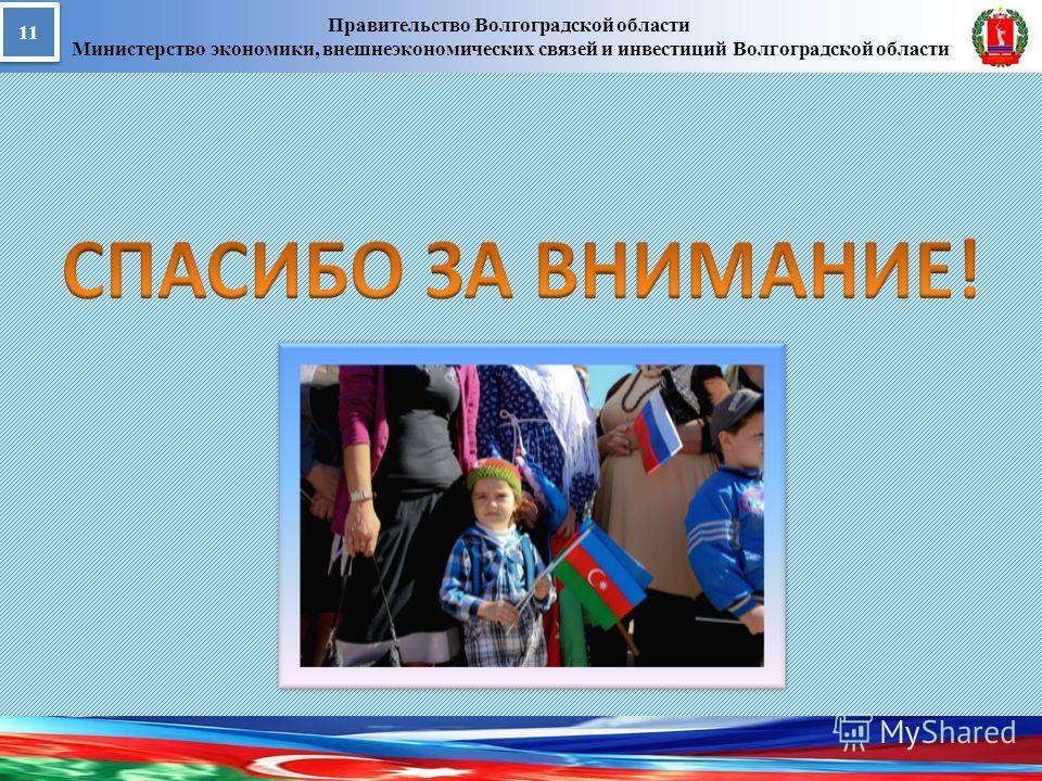 Правительство Волгоградской области Министерство экономики, внешнеэкономических связей и инвестиций Волгоградской области 11