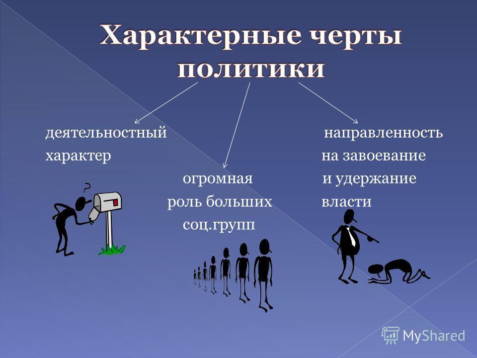 деятельностный направленность характер на завоевание огромная и удержание роль больших власти соц.групп