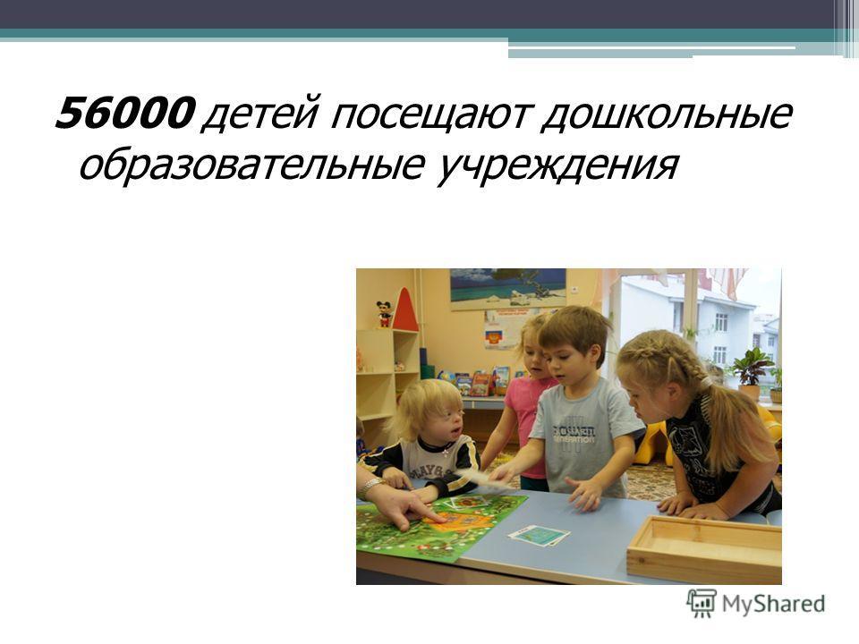 56000 детей посещают дошкольные образовательные учреждения