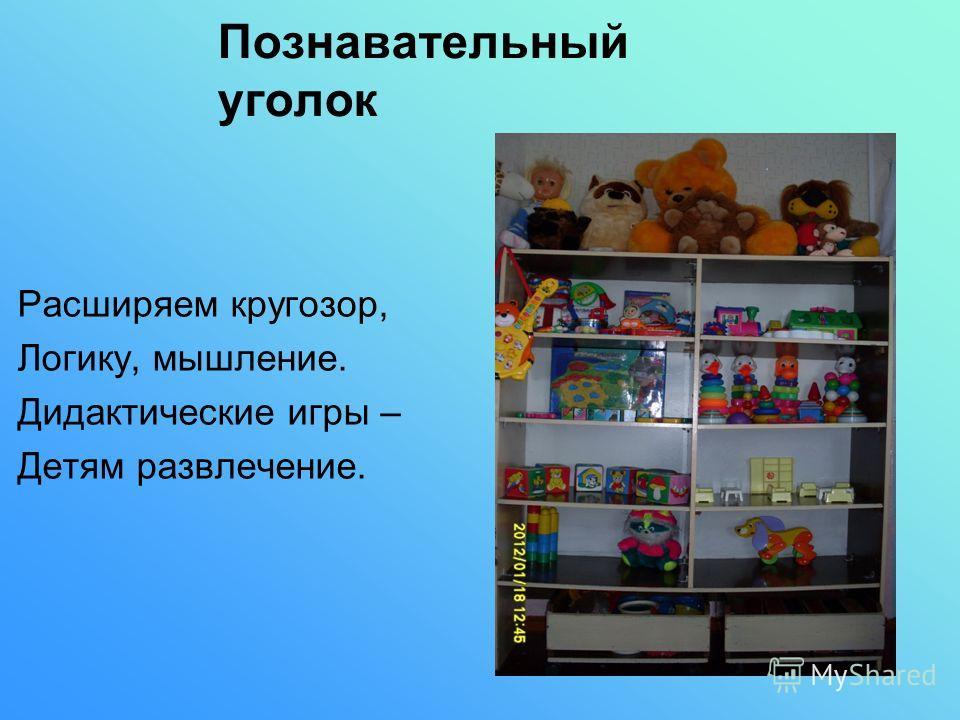 Расширяем кругозор, Логику, мышление. Дидактические игры – Детям развлечение. Познавательный уголок