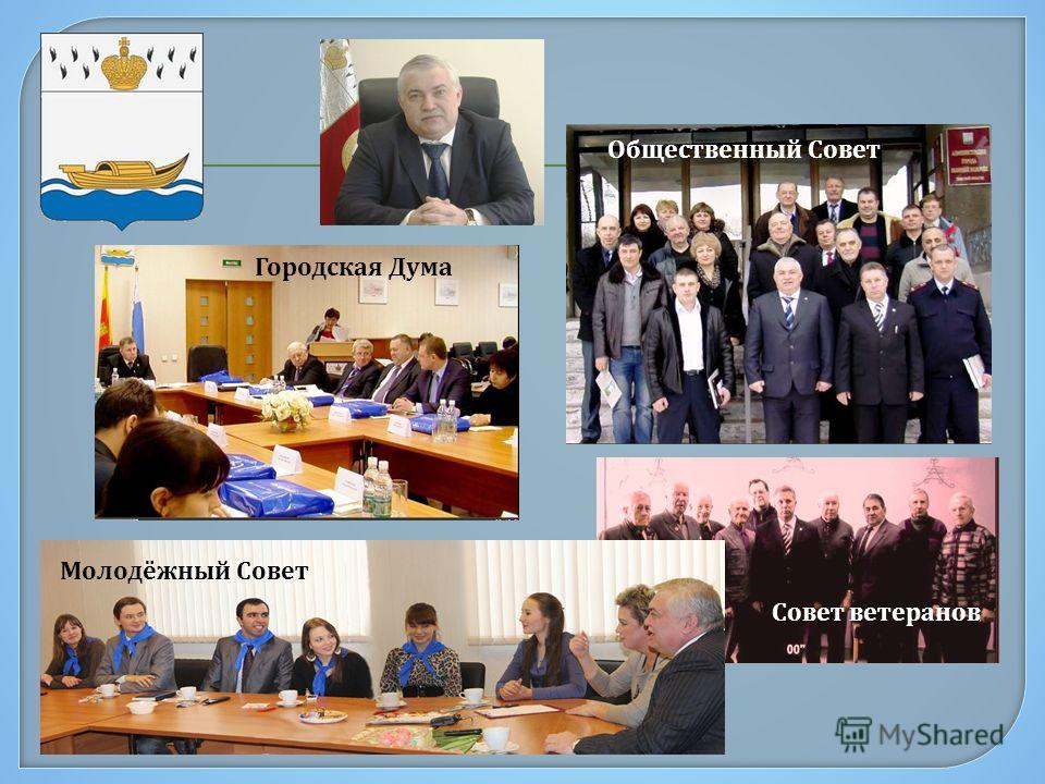 Городская Дума Общественный Совет Совет ветеранов Молодёжный Совет
