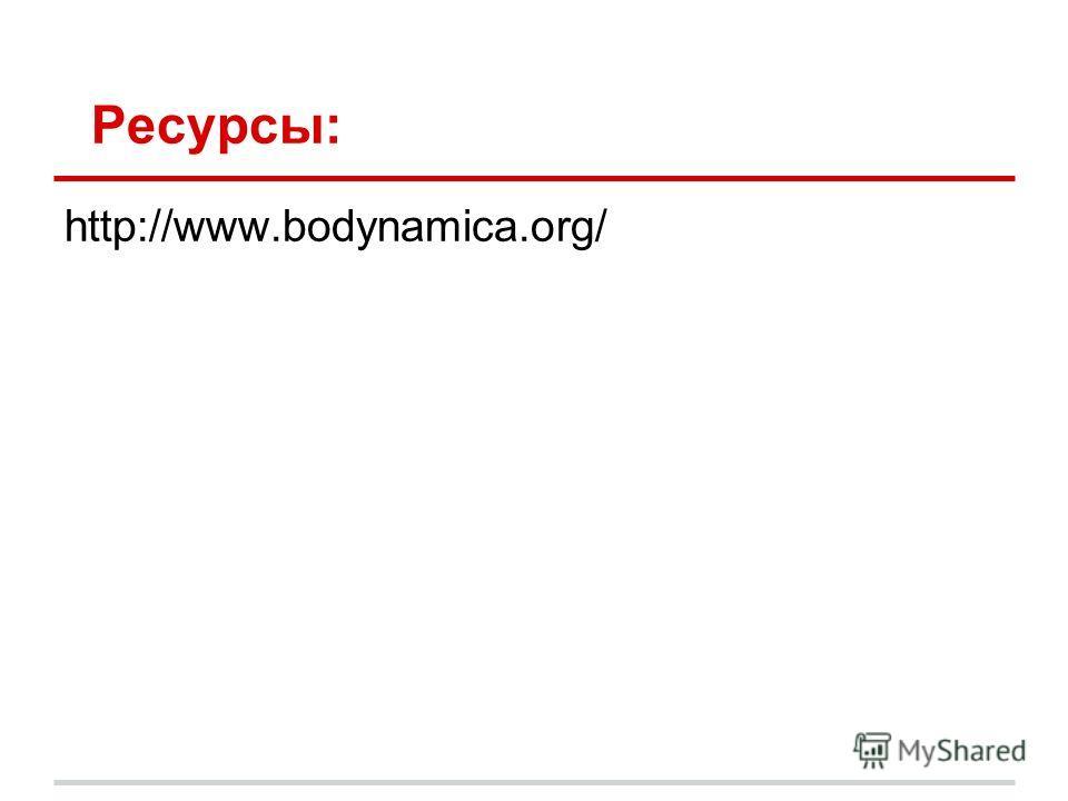 Ресурсы: http://www.bodynamica.org/