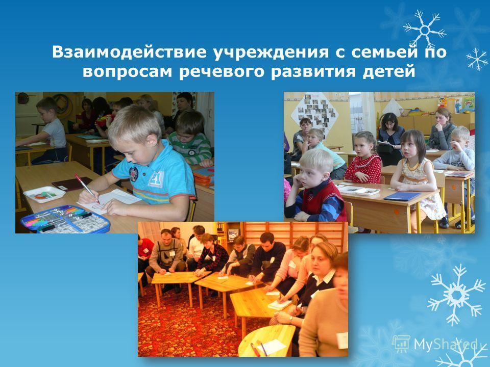 Взаимодействие учреждения с семьей по вопросам речевого развития детей