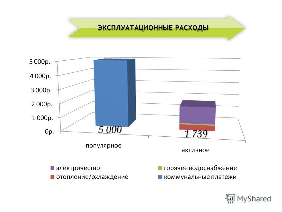 5 000 1 739 ЭКСПЛУАТАЦИОННЫЕ РАСХОДЫ